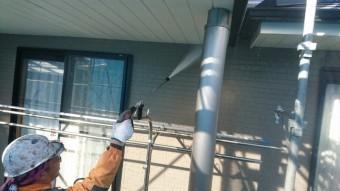 駒ヶ根市赤穂外壁ベランダ修繕洗浄5