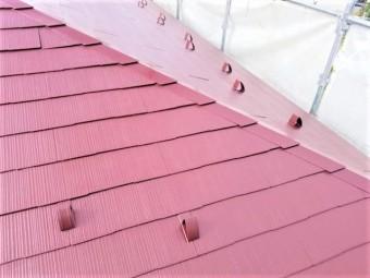 コロニアル スレート屋根の塗装完成しました。