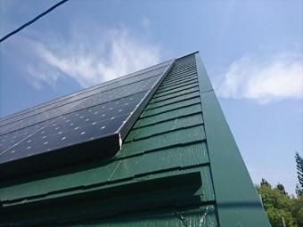 長野県中川村ログハウス屋根上塗り4