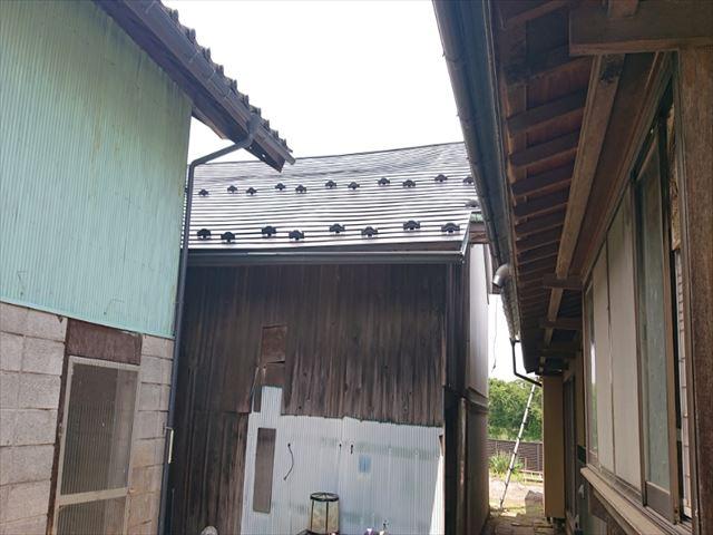 長野県飯島町蔵屋根完成7