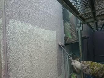 喬木村屋根外壁壁中塗り4