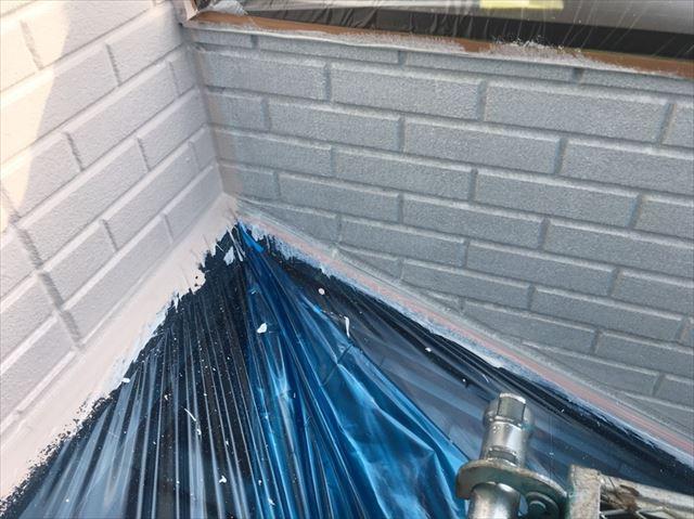 松本市外壁塗装ALC下塗り6
