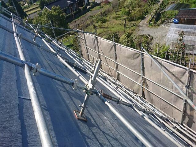 長野県中川村ログハウス屋根下塗り3