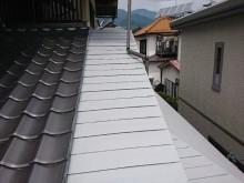 飯田市黒田 数寄屋屋根塗装中塗り2