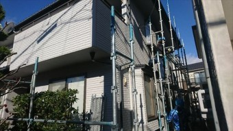松本市ALC塗装足場3