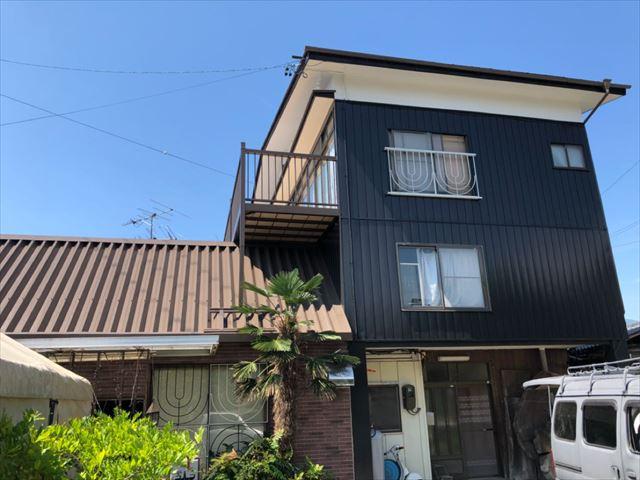 外壁屋根塗装完成です