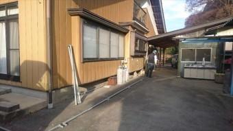 駒ヶ根市下平外壁塗装足場作業2