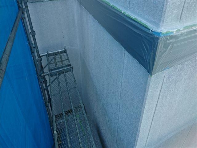 喬木村屋根外壁塗装養生3