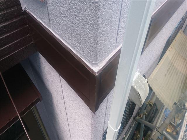 喬木村屋根外壁塗装外壁上塗り5