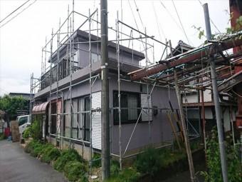 喬木村屋根外壁塗装完成バラシ2