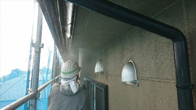 飯田市大瀬木ALC外壁塗装洗浄4