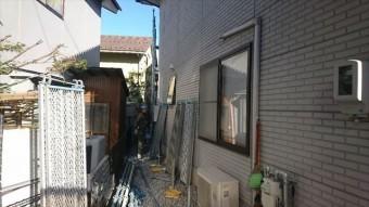 松本市ALC塗装足場2