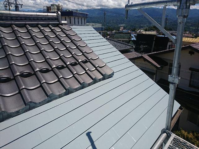 飯田市黒田 数寄屋屋根塗装完成2