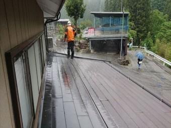 飯田市上村金属屋根壁洗浄5