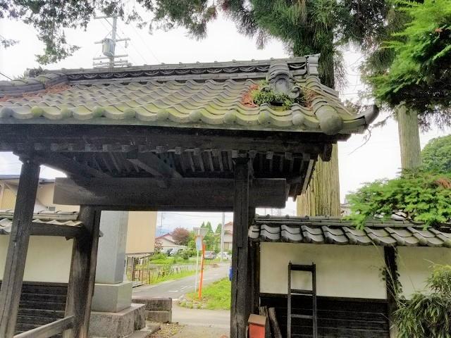 円福寺山門改修前です