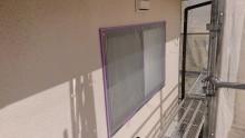 長野県宮田村パナホーム外壁塗装養生2