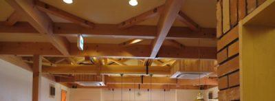コメダ珈琲店の天井